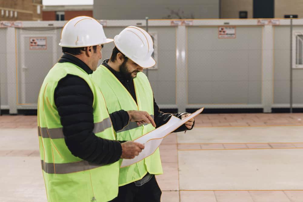 Empleados durante una inspección de trabajo