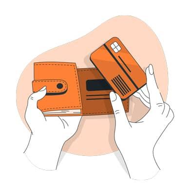Persona comprobando su cartera para saber que retenciones del irpf tiene en la nómina