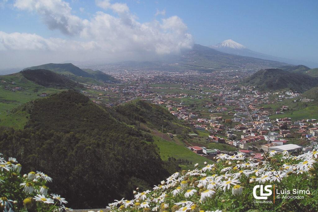 Vista del Teide desde nuestra asesoría laboral en Tenerife