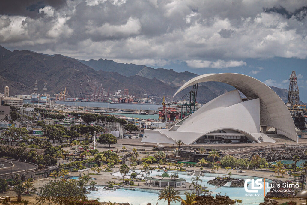 Vistas del Auditorio desde nuestra asesoría fiscal en Santa Cruz de Tenerife