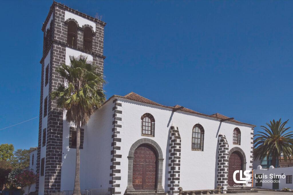 Vistas de la iglesia de Santa Catalina desde nuestra asesoría fiscal en Tacoronte