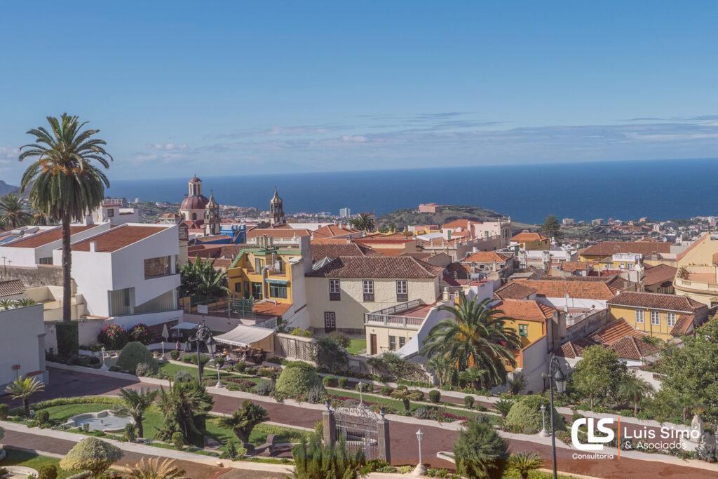 Vistas de la ciudad desde nuestra asesoría laboral en La Orotava